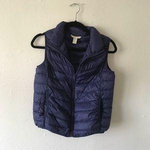 Blue puffy vest